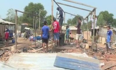 Incendio dejó a una familia en la calle en Tablada Nueva