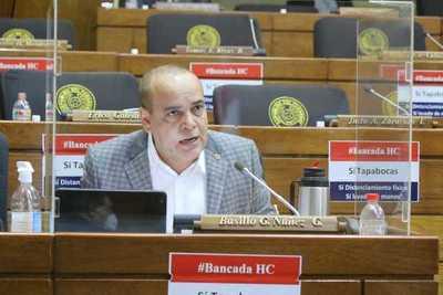 "Vehemente rechazo de diputado ""Bachi"" Núñez ante discurso opositor de ""recuperación de tierras mal habidas"""