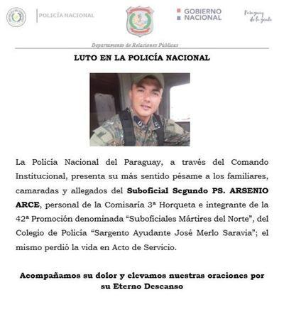 Policía muere en Horqueta tras caer de un techo