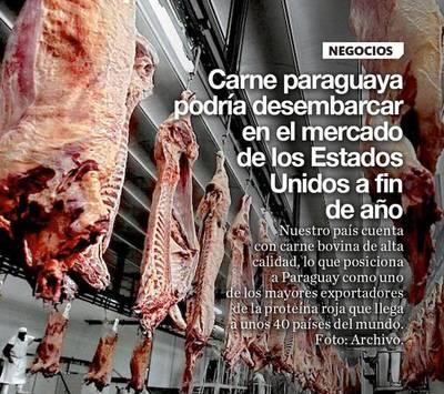 Carne paraguaya podría desembarcar en el mercado de los Estados Unidos a fin de año