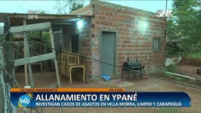 Allanamiento en Ypané tras la pista de violentos asaltantes