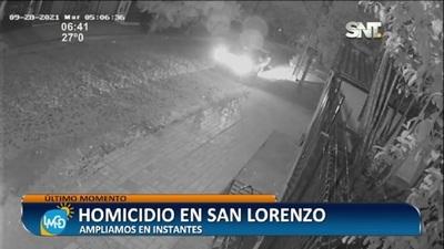 Presunto caso de sicariato en San Lorenzo