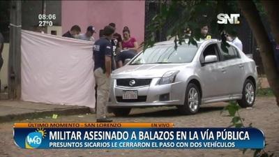 Militar fue asesinado a balazos en la vía pública en San Lorenzo