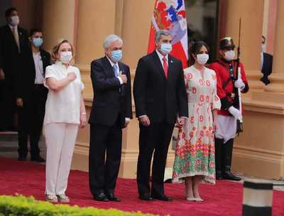 Presidente Abdo recibe en Palacio de Gobierno a mandatario de Chile