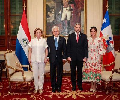 Presidente de Chile inicia visita oficial a Paraguay