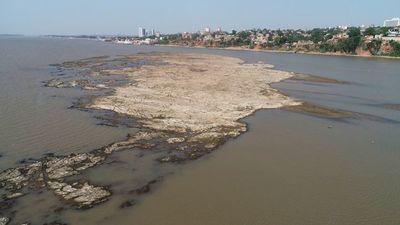 Bajante crítica: nueva mínima histórica del río Paraguay en Asunción