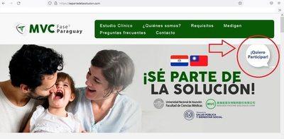 """Invitan a la ciudadanía a participar de las pruebas de la vacuna taiwanesa: """"Sé parte de la solución"""""""