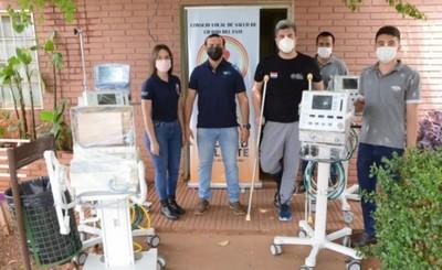 Consejo Local de Salud entrega respiradores al Hospital Regional