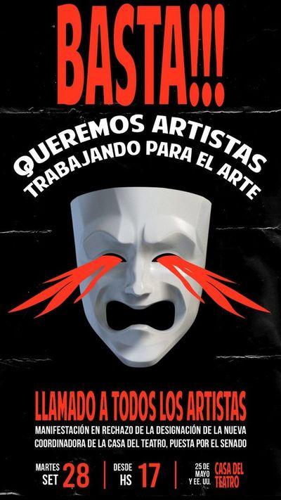 Artistas indignados por designación de directora de la Casa del Teatro convocan a manifestación