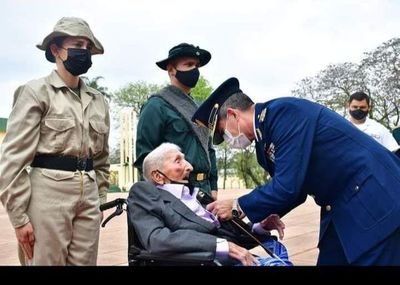 Héroe del Chaco con 107 años goza de buena salud