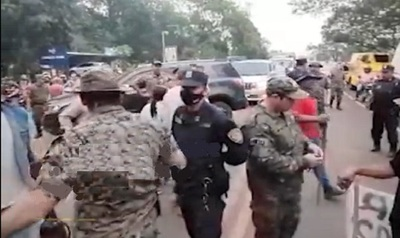 Gobernador de San Pedro retenido en cierre de ruta PY03, policía actuó para habilitar circulación