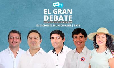 El Gran Debate pondrá cara a cara a los cinco candidatos a intendente de Coronel Oviedo