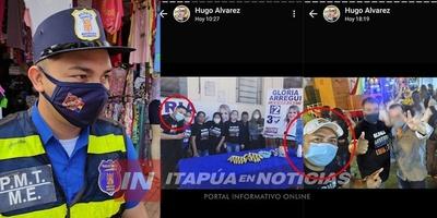 AGENTE DE TRÁNSITO PRESENTABA REPOSO MÉDICO PERO SE IBA A HACER CAMPAÑA