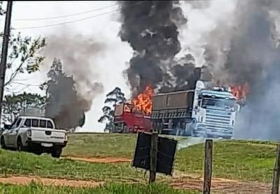 Manifestantes queman camiones en Yasy Cañy y generan destrozos en oficina del Indert