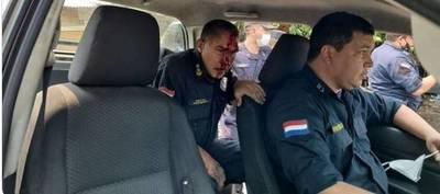 Tres de los ocho policías heridos quedaron internados, el resto ya fue dado de alta