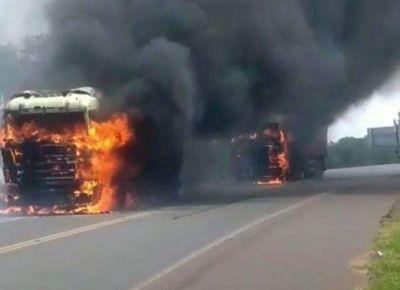 Manifestantes queman oficina del Indert, vehículos y una caseta policial
