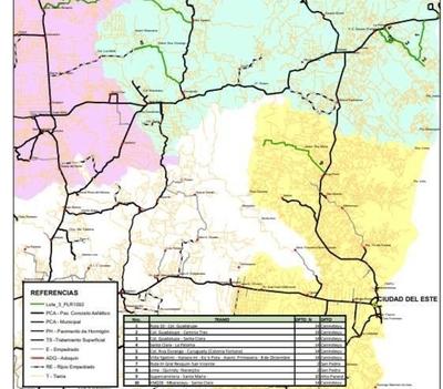 Mejorarán unos 721 km de caminos rurales de ocho departamentos