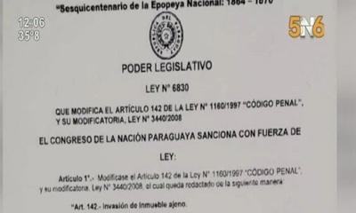 Promulgan ley que aumenta pena de cárcel para invasores de tierras