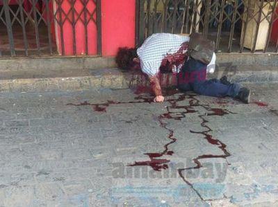 Guardia mata a balazos a un hombre en microcento de Pedro Juan