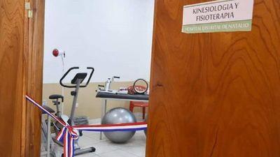 Hospital de Natalio es el primero en contar con Kinesiología en Itapúa