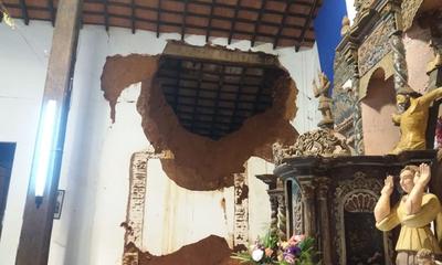 Pobladores denuncian incumplimiento en la reparación de la iglesia San Joaquín