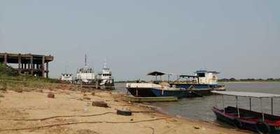Verificaron trabajos de dragado y situación del río Paraguay en zona de Villeta
