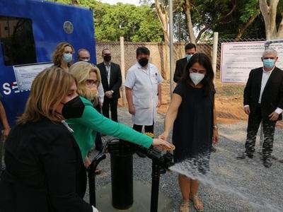 Inauguran sistema de abastecimiento de agua en el Instituto de Medicina Tropical