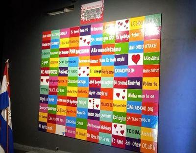 """Los Amigos de la Plaza y el """"Mural del Amor"""" en Piribebuy"""