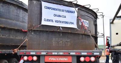 La Nación / Llegó el segundo lote de componentes de turbinas para la central Aña Cuá