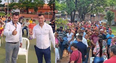 """Fenómeno social y político: """"Marcial Lezcano aglutinó mas de 1000 personas en una plaza y en solo 1 día fueron inscriptas 800 personas en el programa """"Mi Primer Terreno"""""""