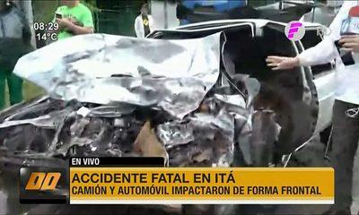Accidente fatal en Itá