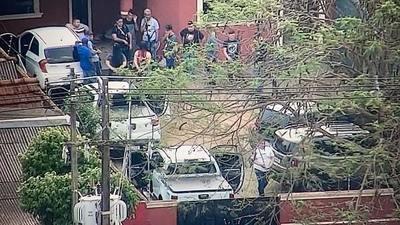 Detienen a cuatro personas en allanamientos en Pedro Juan