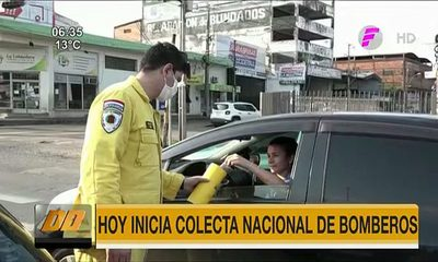 Inicia colecta nacional de bomberos voluntarios