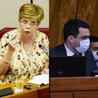 "Senadora al Ministro: ""se salvó de una feroz puteada ese inútil"
