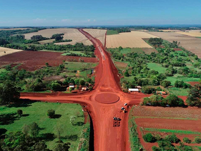 Corredor de Exportación: Rotonda de Mayor Otaño va tomando forma