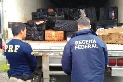 Decomisan 240 mil gruesas de cigarrillos de CONTRABANDO