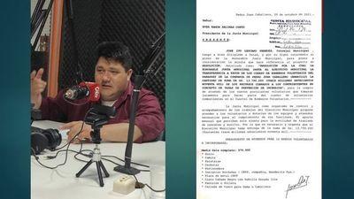 Concejal Ivo Lezcano presenta minuta que insta al Intendente la transferencia a favor del Cuerpo de Bomberos