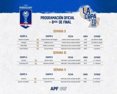 Se vienen los primeros partidos de octavos de la Copa Paraguay