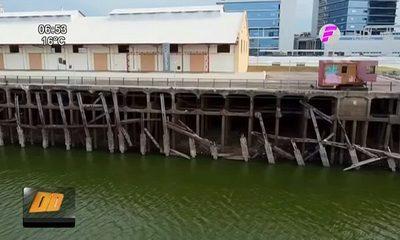 Pilotes protectores del Puerto de Asunción casi en ruinas