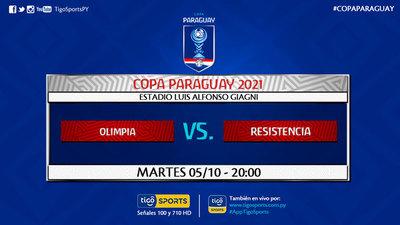 Olimpia y Resistencia juegan por un lugar a cuartos