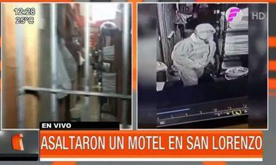 Fingieron ser clientes y asaltaron un motel