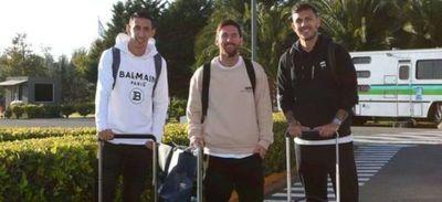 Argentina calienta motores con la llegada de Lionel Messi