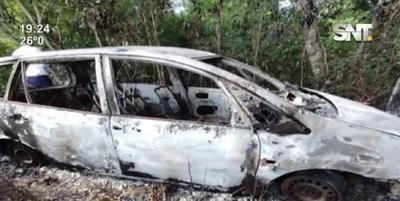Nueva Alborada, Itapúa: Quemaron vehículo utilizado en un asalto