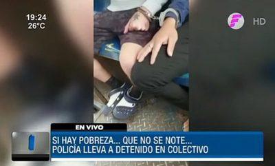 Trasladó a detenidos en un colectivo por falta de patrullera