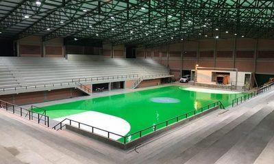 Ocupan espacio deportivo municipal para cierre de campaña