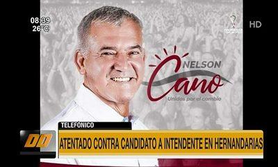 Atentado contra candidato a intendente en Hernandarias