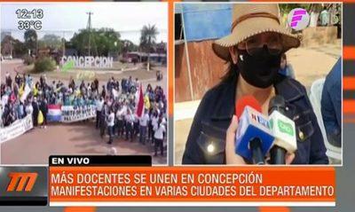 Más docentes se unen al paro en Concepción