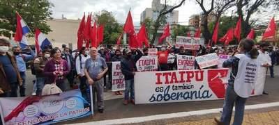 Con movilización exigen que se ejerza soberanía sobre Itaipú