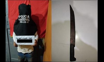 """""""Drácula"""", sin colmillos, pero con machete, asaltó y tajeó los dedos de su víctima"""