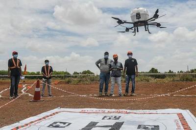 India incorpora drones al sistema sanitario para realizar envíos de vacunas anticovid en zonas alejadas